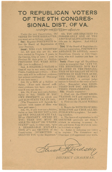 Education from LVA: Constitution of Virginia, 1902