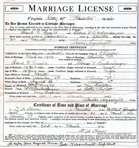 Copy Of Divorce Certificate: Virginia Marriage Records Free Sources