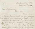 Christopher Yancy Thomas to Peyton Gravely, March 18, 1861, Gravely Family Papers, Acc. 34126, Library of Virginia.,