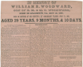 """In Memory of William E. Woodward. . . .,"" 1861, Broadside, 1861 .I35 FF, Special Collections, Library of Virginia.,"