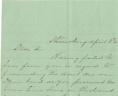 Edwin Barbour to Christopher Yancy Thomas, April 8, 1861, Gravely Family Papers, Acc. 34126, Library of Virginia.,