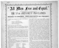 All Men Free and Equal. The XVth amendment proclaimed. Message to Congress. - Proclamation of the President ... New Haven, Conn. J. H. Benham & son, printers [1870]. 