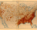 Statistical atlas of the United States, Based upon the Results of the Eleventh Census, by Henry Gannett. Proportion of the Colored to the Aggregate Population: 1890, plate 11. Library of Congress, Geography and Map Division Washington, D.C., LVA