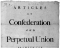 """Articles of Confederation and Perpetual Union . . ."" (Williamsburg: printed by Alexander Purdie in 1777, Rare Book and Special Collections Division, Printed Ephemera Collection; Portfolio 178, Folder 26. Library of Congress., LOC"