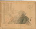 Edwin Hergesheimer. Map of Virginia Showing the Distribution of its Slave Population from the Census of 1860. Washington, [D.C.: Henry S. Graham], June 13th, 1861. Map Collection, Library of Virginia, Richmond, Virginia., LVA