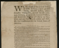 Constitution, (Philadelphia: Printed by Dunlap & Claypoole) 1787, Rare Book and Special Collections Division, Continental Congress and Constitutional Convention Broadsides Collection, Library of Congress., LVA