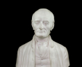 George Wythe (1726–1806), Marble Bust by Bryant Baker, 1962. State Artwork Collection, Library of Virginia., LVA