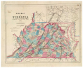 <em>New Map of Virginia: Compiled from the Latest Maps, Drawn and Colored by Hustead &#38;Nenning</em>, Hoyer and Ludwig Lithographers  (Richmond, Va.: J. W. Randolph, 1861), Library of Virginia.,
