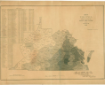 E. Hergesheimer, Map of Virginia Showing the Distribution of its Slave Population from the Census of 1860, C. B. Graham, Lithographer (Washington, D.C.: Henry S. Graham, 1861), Library of Virginia.,