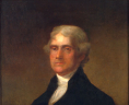 John A. Elder, Thomas Jefferson (1743–1826). Oil painting on canvas, 30 x 25 in. Original by Gilbert Stuart. Virginia State Artwork Collection: acquired 1887., LVA