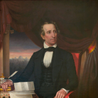 John Tyler (1790–1862). Portrait in State Artwork Collection, Library of Virginia.