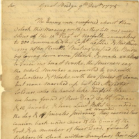 William Woodford to the President of the Virginia Revolutionary Convention, December 9, 1775, Revolutionary Government, Papers of the Fourth Convention, Record Group 2, Accession 30003, Library of Virginia, Richmond, Virginia.