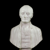 George Wythe (1726–1806), Marble Bust by Bryant Baker, 1962. State Artwork Collection, Library of Virginia.