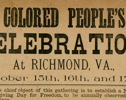Celebration of the Emancipation Proclamation, 1890