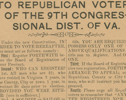 Voting Requirements of the Constitution of Virginia, 1902