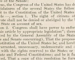 Nineteenth Amendment to the United States Constitution, August 18, 1920