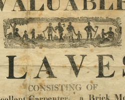 An Advertisement for the Sale of Eleven Slaves, February 17, 1812