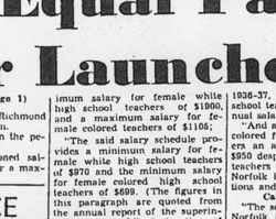 Aline Black Fought for Equal Pay for African American Teachers, 1938