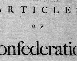 Articles of Confederation, March 1, 1781