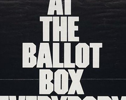 At the Ballot Box, Poster Advocating Voter Registration, 1970s