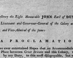 Dunmore's Proclamation, November 7, 1775