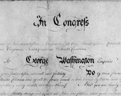 Commission to George Washington as Commander in Chief, June 19, 1775