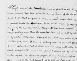 Letter of James Madison to George Washington, October 18, 1787