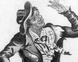 Jim Crow, Caricature of an African American