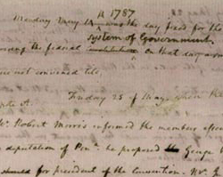 James Madison's Notes on the Debates in the Federal Convention, May 25, 1787