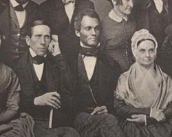 A Group of Philadelphia Abolitionists with Lucretia Mott, Photograph, 1851