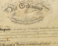 Ordinance of Secession (Calligraphy Version)