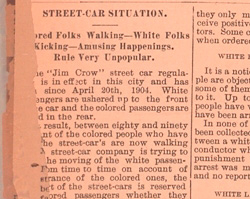Richmond Streetcar Boycott, 1904