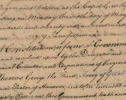 First Virginia Constitution, June 29, 1776
