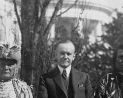 Indian Citizenship Act, President Coolidge and Osage Indians Photograph, 1924