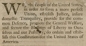 United States Constitution, September 17, 1787.