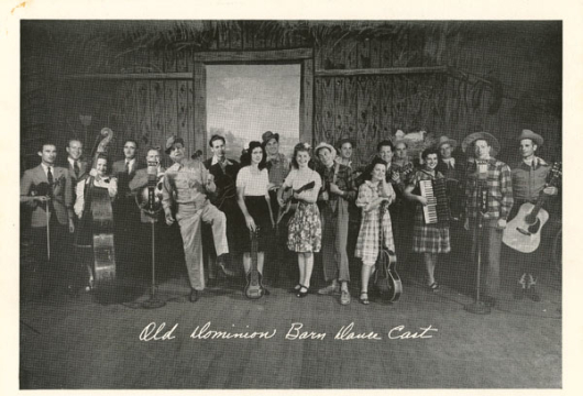 Audio Recording, Old Dominion Barn Dance, Karo Corn Products Program, 29 January 1954 (WRVA–133), WRVA Radio Collection, Accession 38210, Library of Virginia, Richmond, Virginia.