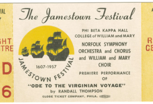 Records of the Virginia 350th Anniversary Commission, 1953—1958, Accession 25869, State Government Records Collection, Library of Virginia, Richmond, Virginia.