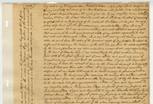 Charles City County (Virginia) Circuit Court, Deed and Will Book, 1808—1824, Local Government Records Collection, Library of Virginia, Richmond, Virginia