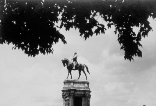 Impressive Equestrian Statue of Robert E. Lee, by Mercié, Is One Of the Beautiful Statues On Monument Avenue In Richmond, Computer file: 1996, Virginia New York World�s Fair Commission, [1939?], Photograph Collection, Library of Virginia, Richmond, Virginia.