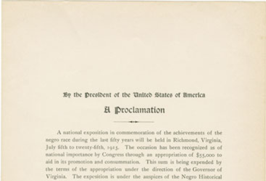Broadside, 1915 .U58 FF, Special Collections, Library of Virginia, Richmond, Virginia.