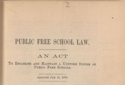 Virginia, General Assembly, House of Delegates, <em>A Bill to Establish and Maintain an Uniform System of Free Schools</em> (Richmond, 1870), LB2529 .V8 1870a, Library of Virginia, Richmond, Virginia.
