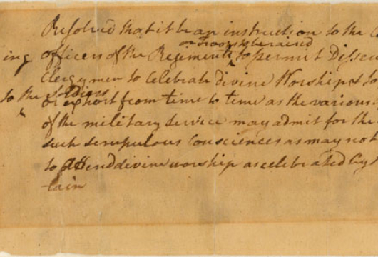 Undated draft resolution in the handwriting of Patrick Henry, adopted by the Third Virginia Convention on 16 August 1775, Papers of the Third Virginia Convention, Revolutionary Government, Record Group 2, Accession 30003, Library of Virginia, Richmond, Virginia.