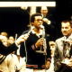 Photograph of Arthur Ashe receiving a trophy, 1970