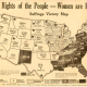 """The Rights of the People—Women are People. Suffrage Victory Map."" 1920. Broadside. Equal Suffrage League of Virginia Papers, Acc. 22002. Library of Virginia, Richmond, Virginia."