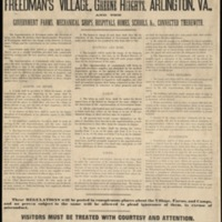 Regulations for the Government of Freedman's Village, Greene Heights, Arlington, Va.